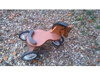 Small vintage style childs wooden trike
