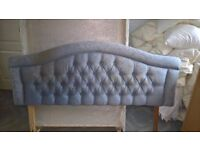 PADDED KING SIZE 5FT HEADBOARD WITH LEGS - REFURB' OR RECOVER PROJECT?