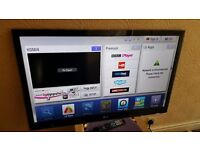 """LG 42"""" FULL HD 1080p LED TV with built in Freeview HD, 4 x HDMI, NO BASE STAND"""