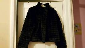 Girls black fur coat 10-11yrs