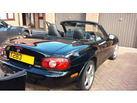2001 Mazda MX-5 1.8i S Sport Black Convertible with Hard Top
