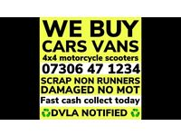 💷 ✅ WE BUY ANY CAR VAN FAST CASH TODAY SELL MY SCRAP DAMAGED NO MOT