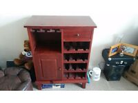 Wine Rack And Glass Holder Bottle Home Storage Unit Cabinet Cupboard