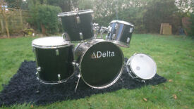 5 Piece Drum Kit, Used Condition. Pearl Snare Drum