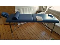 Solaria portable, foldable high quality massage bed, complete with bag and accesories.