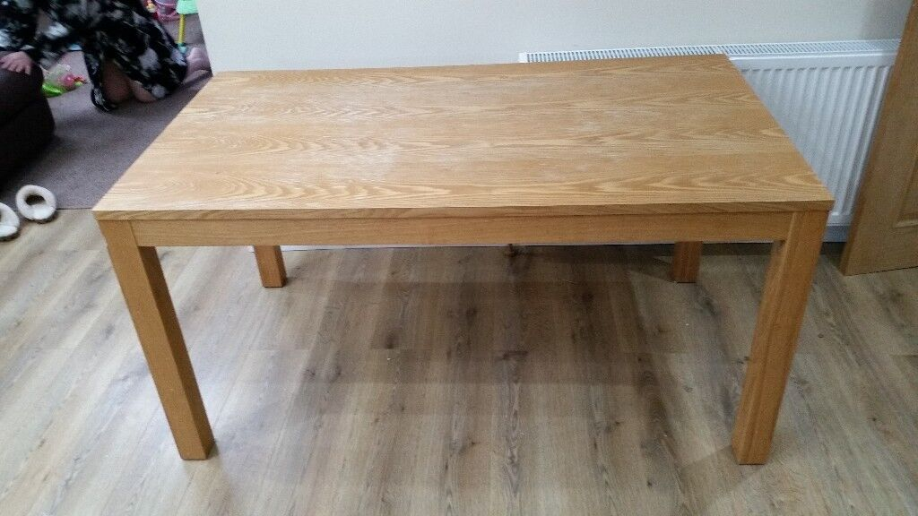 Used Oak Dining Table Originally From Housing Units 1500mmx900mm