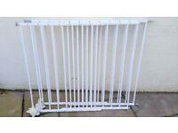 BabyDan Extending Metal Safety Gate Extendable Baby Infant Pet Dog Guard White