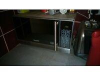 microwave, Cookworks, aluminium appearance. clean