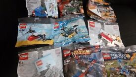 9 x brand new Lego poly bags