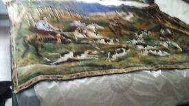 Jacquard tapestry very large hunting scene