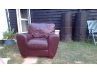 free armchair brown leather