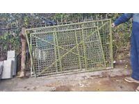 Galvanised gate