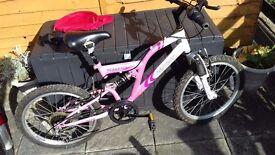 Girls 20in wheel bike