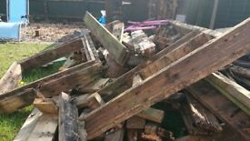 Lots of wood from garden decking