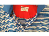 Blue & white stiped mens shirt