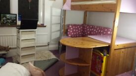 Stompa Casa High Sleeper with pull out desk