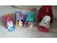 Girls pet animal carry cases. 4 seal dog cat rabbit 5 each or all for 15