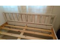 Solid pine double bed for sale.