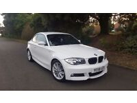 White 120d msport coupe