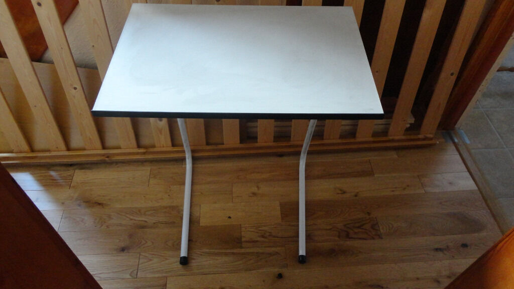 White Bedside Bed or sofa side orFolding tablein Prenton, MerseysideGumtree - White Bedside Bed or Sofa side Folding table 3 height positions collect form CH43 0UD