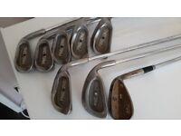 A SET OF PING IRONS PLUS