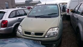 2002 RENAULT SCENIC FIDJI 16V, 1.4 PETROL, BREAKING FOR PARTS ONLY, POSTAGE AVAILABLE NATIONWIDE