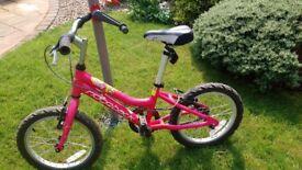 Girls bike, 15 inch wheel width.