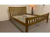 Solid oak king size bed (free delivery)