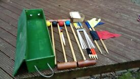 Victoria croquet set made by Status