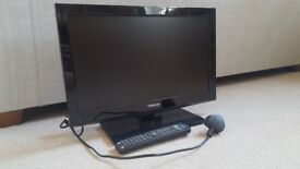 """Toshiba 19"""" HD LED TV with built-in DVD player"""