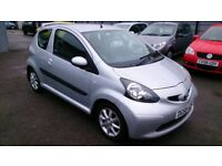 2008 TOYOTA AYGO 1.0L PLATINUM IN SILVER 3 DOOR HATCH ONLY 77K S/H AUG 2018 MOT R/C/L CD E/W ALLOYS