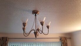 2 No 5 light ceiling fitting