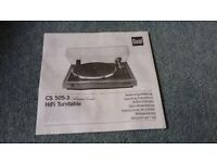 DUAL hi fi turntable CS505-3