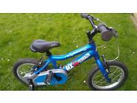 Ridgeback MX14 bike with stabilisers