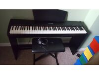 Chase digital electric piano and stool