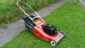 Mountfield emperor petrol lawnmower self propelled rear roller