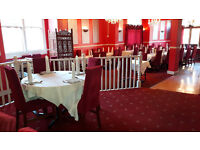 A very impressive and outstanding Indian restaurant with three large bedrooms included.