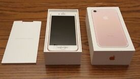 1 DAY OLD iPHONE 7 32GB ROSE GOLD on O2 NETWORK