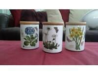 Portmerion botanic garden storage jars