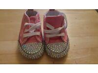 Converse crib shoe size 2