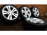 "GENUINE ALLOY WHEELS MERCEDES 17"" C CLASS A2044017602 W204 WINTER TYRES AMG"
