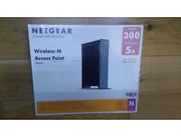 Netgear WN802T RangeMax Wireless access point 300Mbps Brand New in box with Cellophane