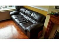 Mocha Leather Sofas, 2 & 3 seater