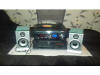 Turntable stereo audio setup