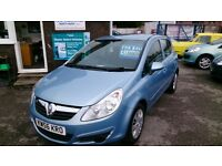 2007 VAUXHALL CORSA 1.4 CLUB A/C 5 DOOR HATCH IN BLUE OCT 2017 MOT 101K WITH F/S/H NEW T/CHAIN CD +