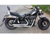 Harley Davidson fxdf fatbob 2014 new shape with extras