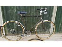 Old school retro Raleigh ti limited push bike road hybrid style