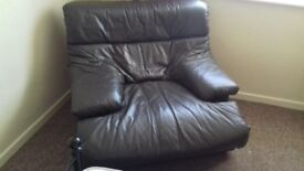 LARGE LEATHER ARM CHAIR