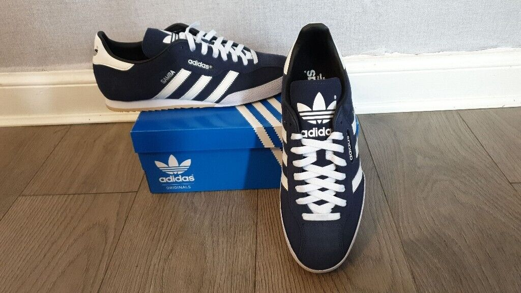 Adidas Originals Samba Super Suede Mens Trainers Casual Shoes Navy UK size 11. New   in Bathgate, West Lothian   Gumtree