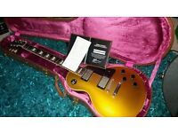 Gibson les paul gold top 1957 reissue V2 neck custom shop historic